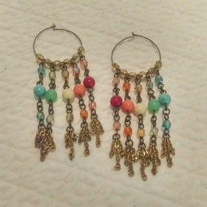 🗯🗯Boho Chic dangly beaded earrings